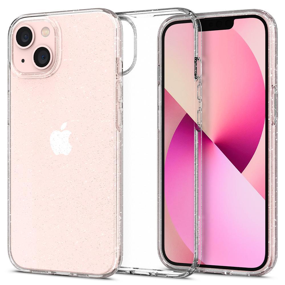 iPhone 13 Mini Case Liquid Crystal Glitter Crystal