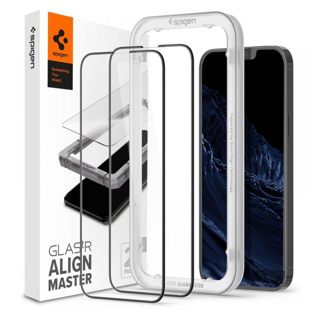iPhone 13/13 Pro AlignMaster GLAS.tR Black (2-pack)