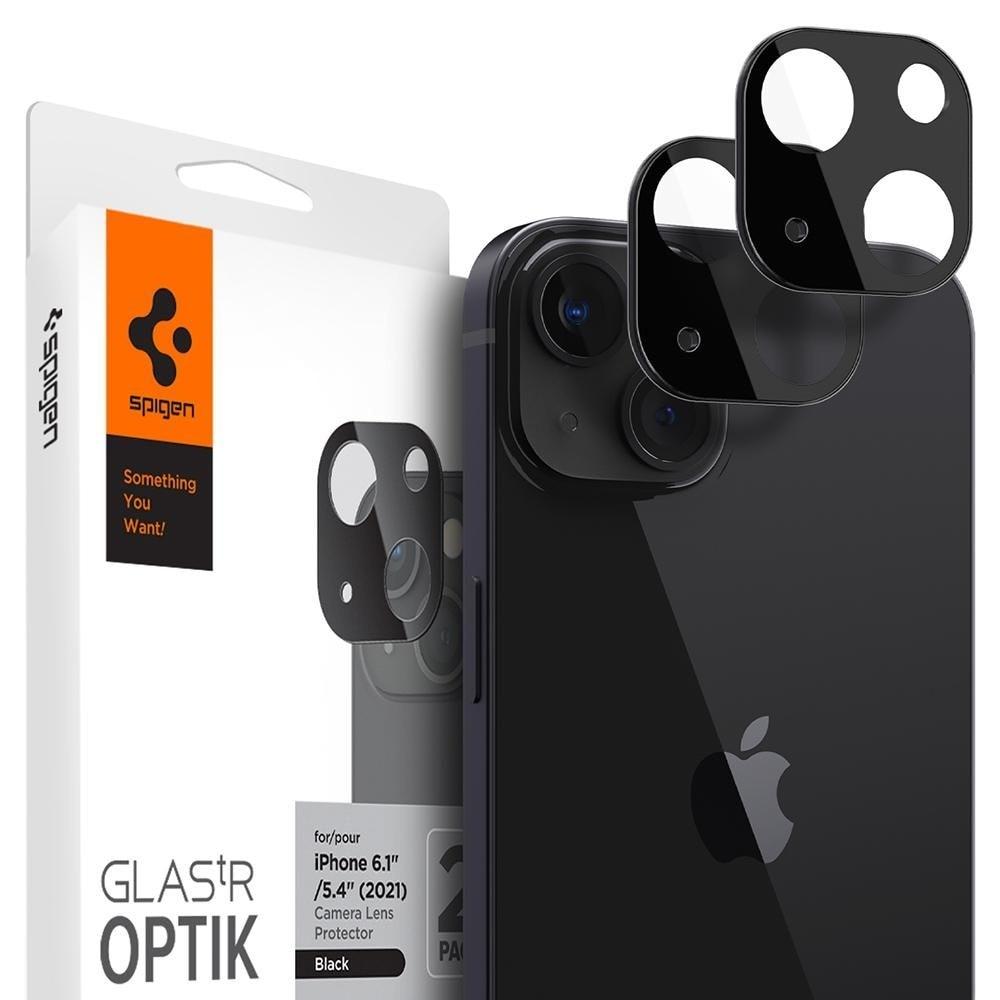 iPhone 13/13 Mini Optik Lens Protector Black (2-pack)