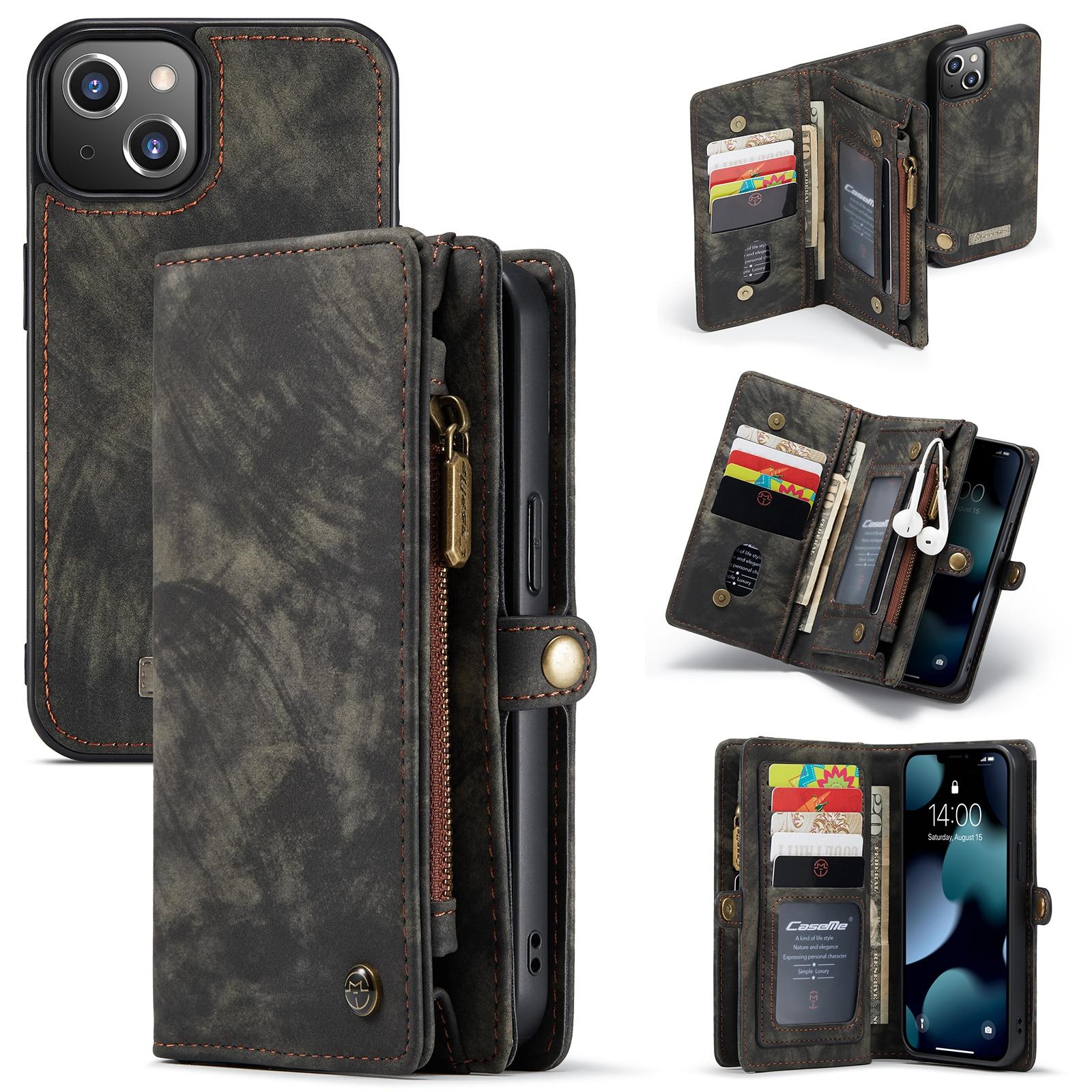 Multi-slot Plånboksfodral iPhone 13 grå