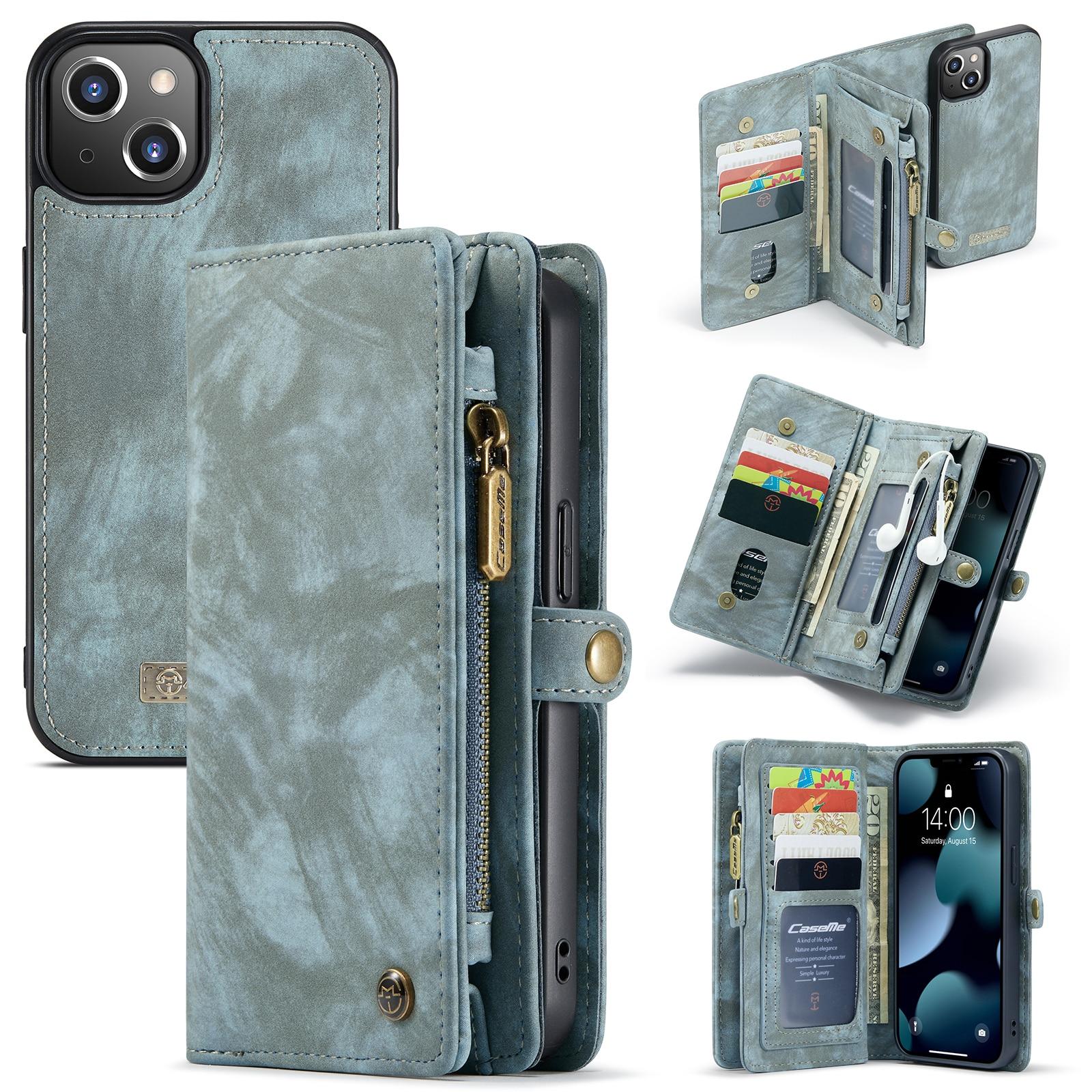 Multi-slot Plånboksfodral iPhone 13 Mini blå