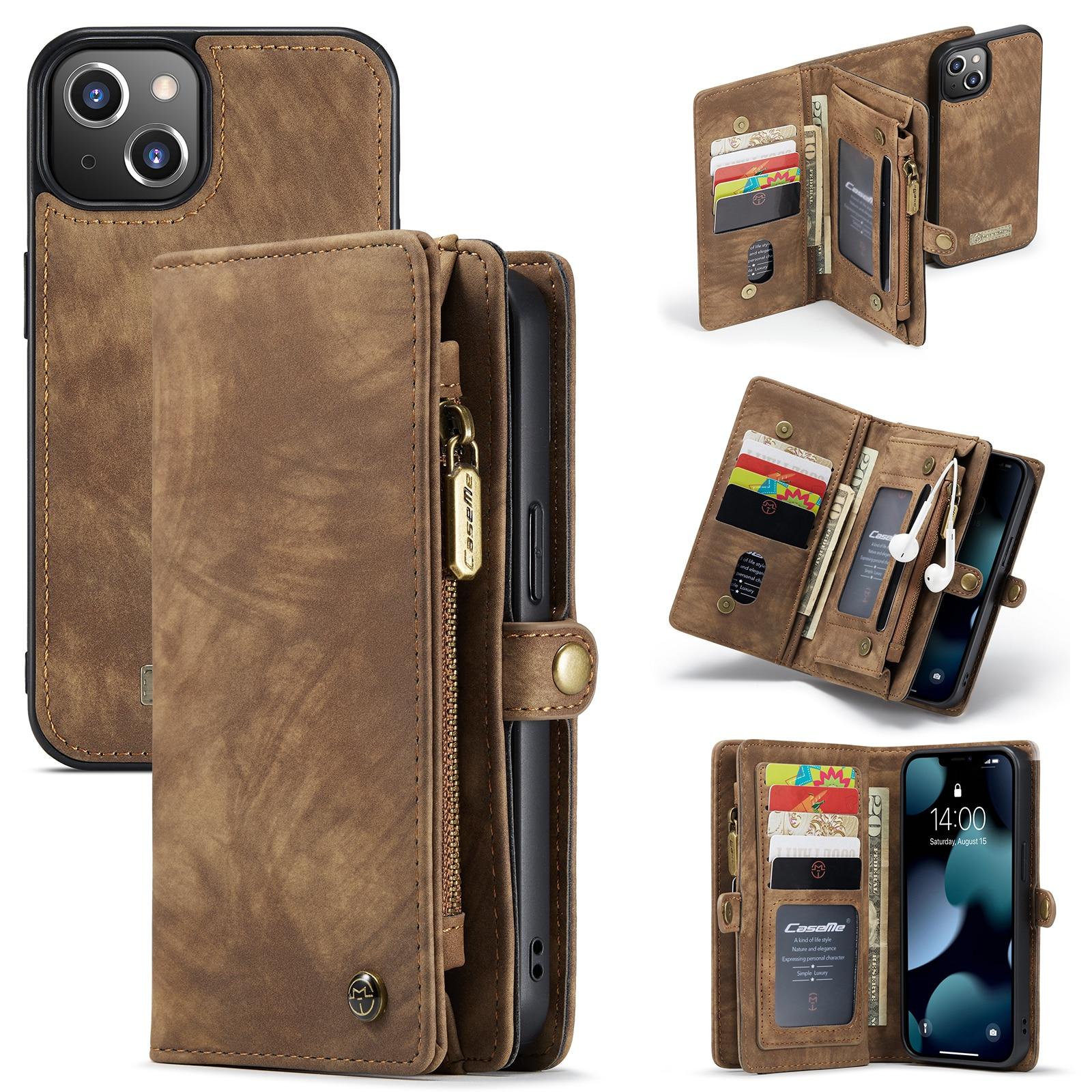 Multi-slot Plånboksfodral iPhone 13 Mini brun