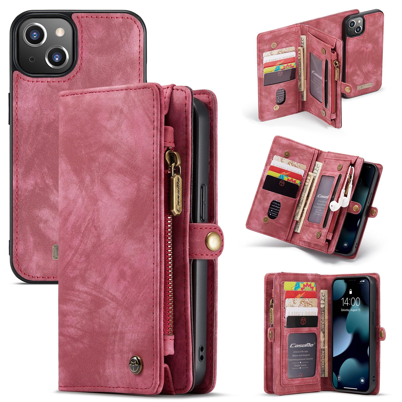 Multi-slot Plånboksfodral iPhone 13 röd