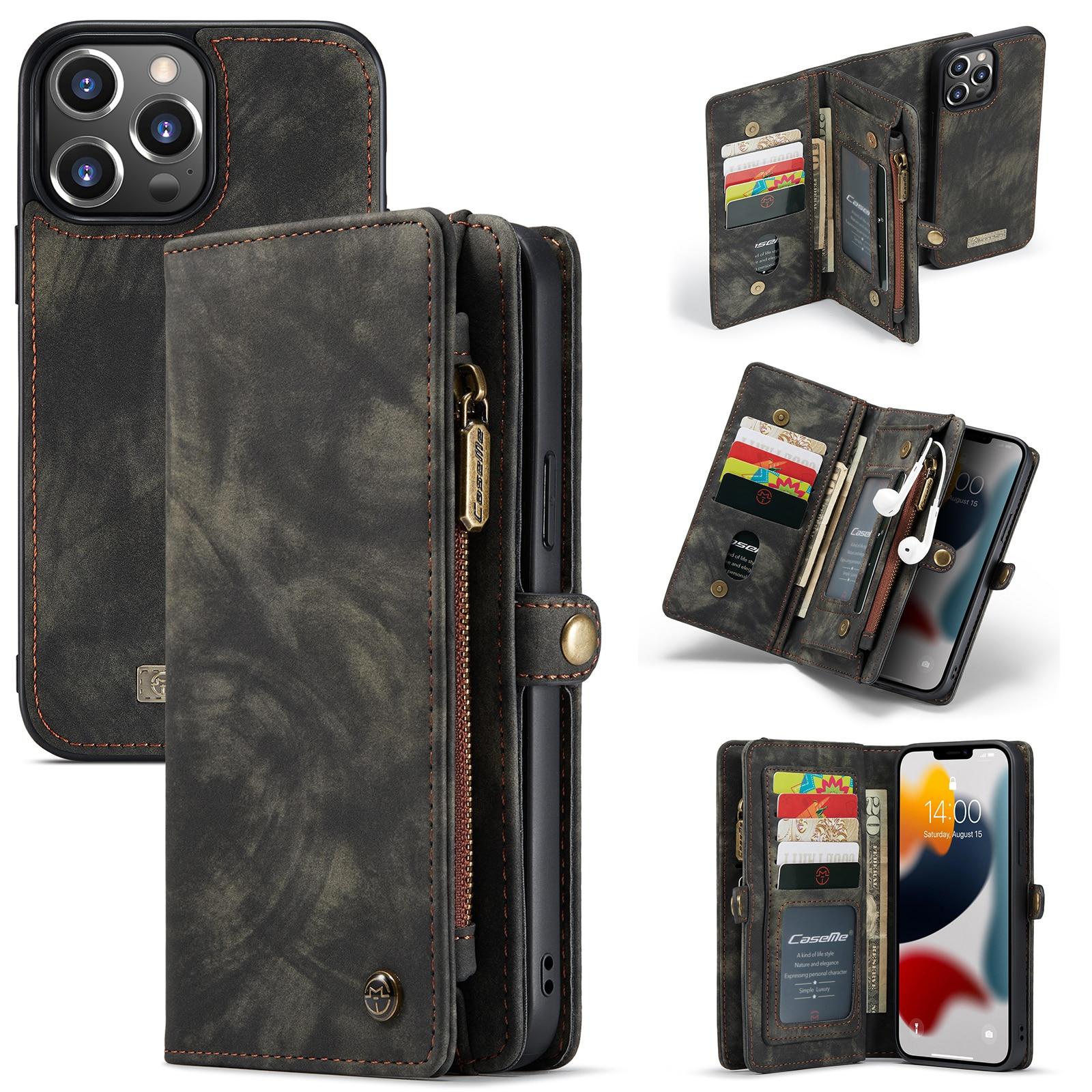 Multi-slot Plånboksfodral iPhone 13 Pro grå