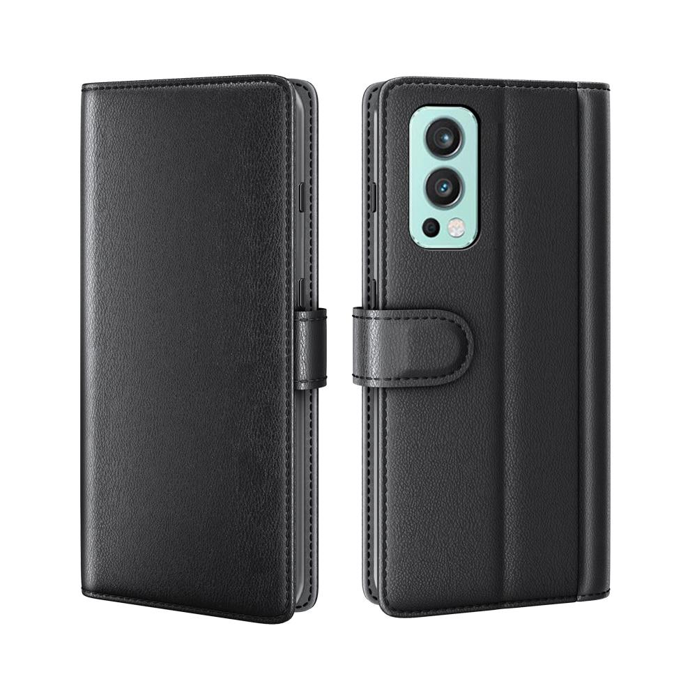 Äkta Läderfodral OnePlus Nord 2 5G svart