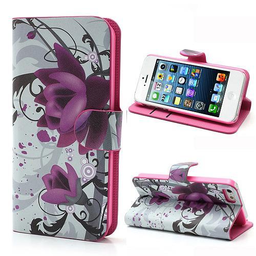 Mobilplånbok Apple iPhone 5/5S/SE Flowers