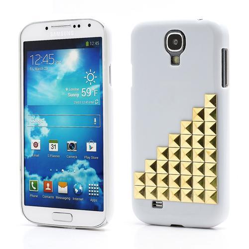 Skal Samsung Galaxy S4 nitar steps vit/guld