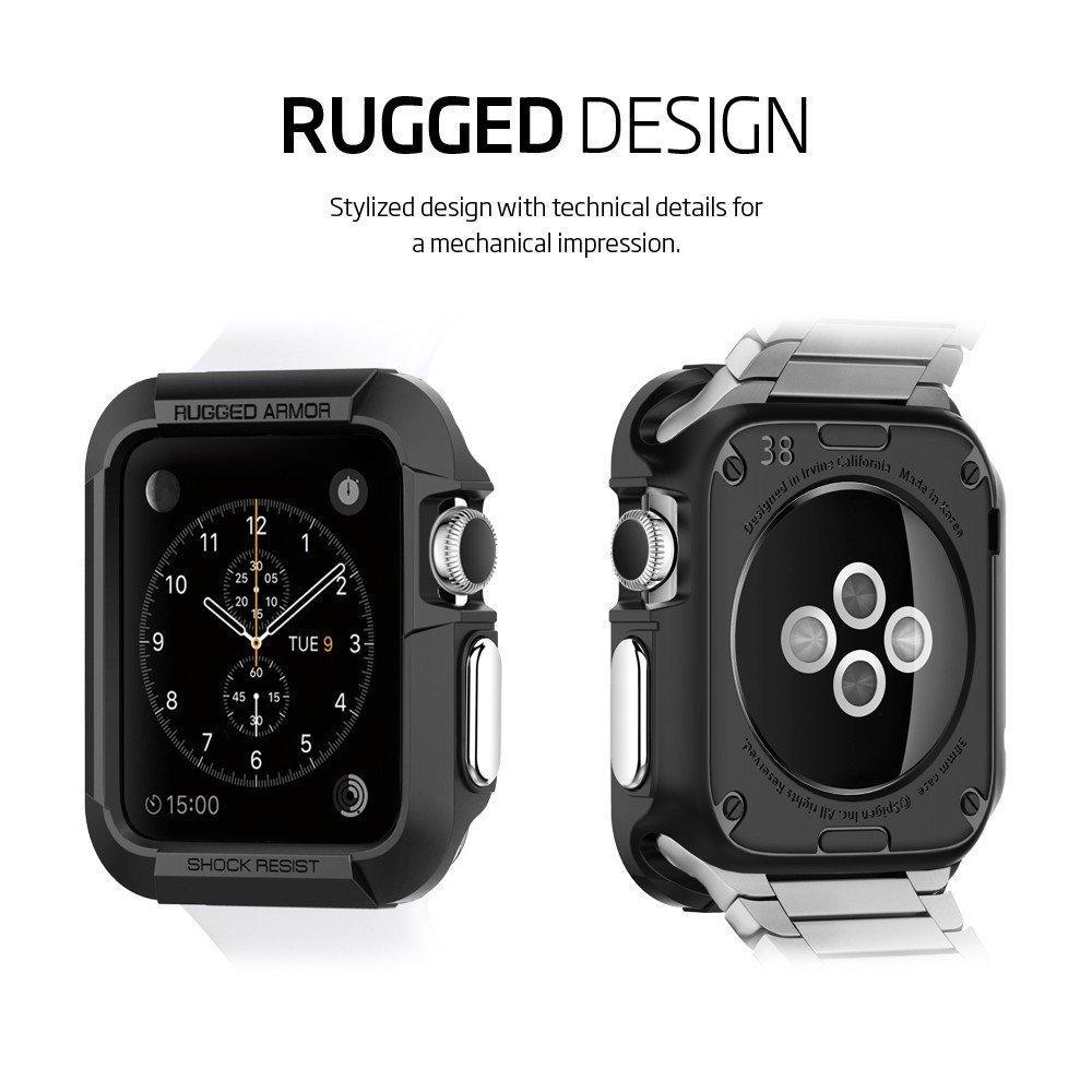 Apple Watch 38mm Rugged Armor Case svart