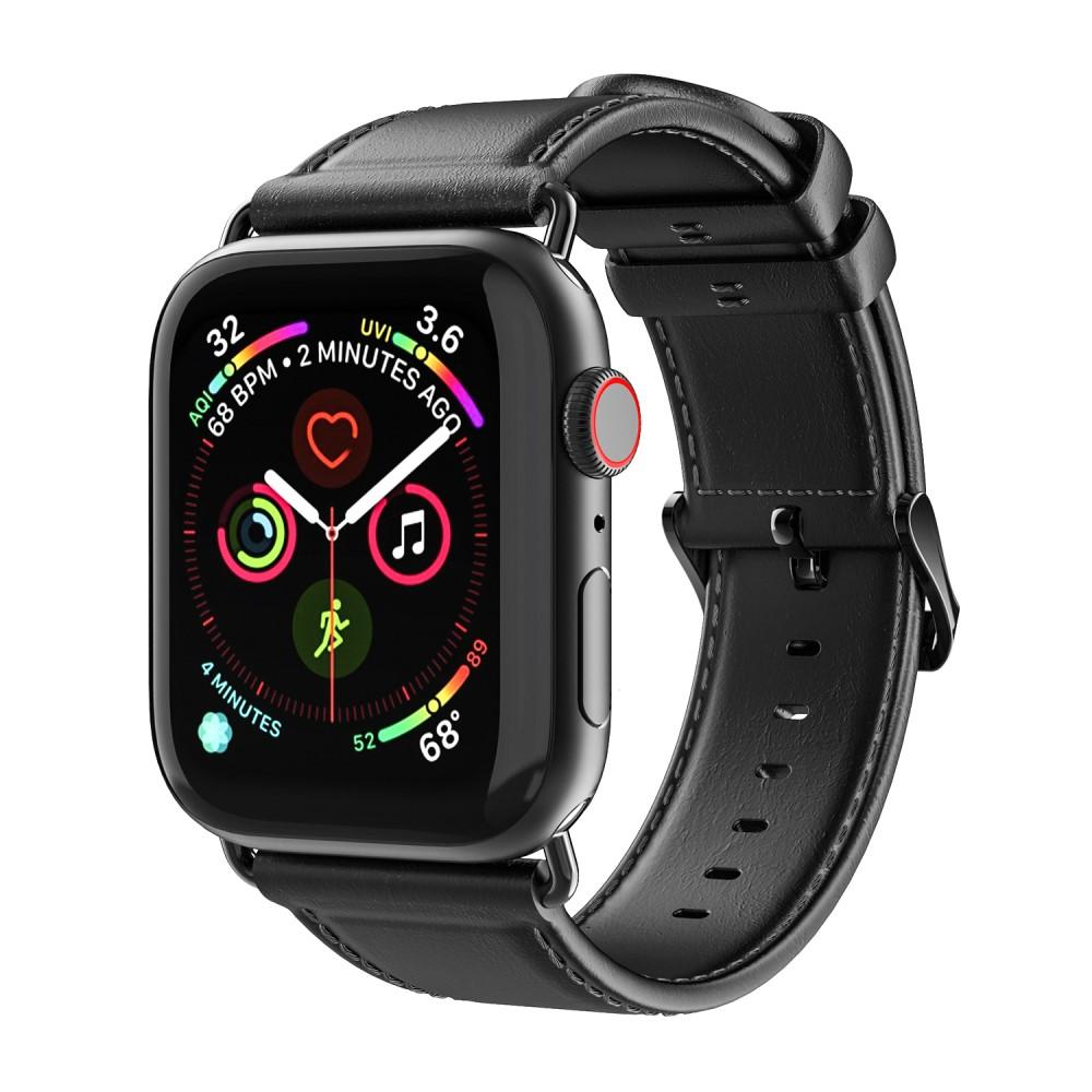 Leather Armband Apple Watch 42/44/45 mm Black