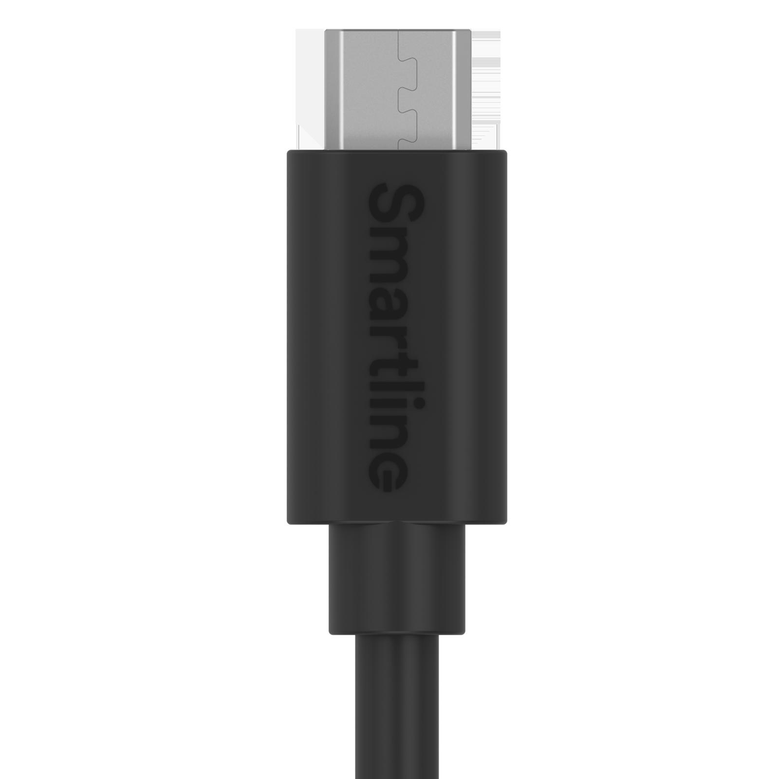 USB-kabel MicroUSB 2m Svart