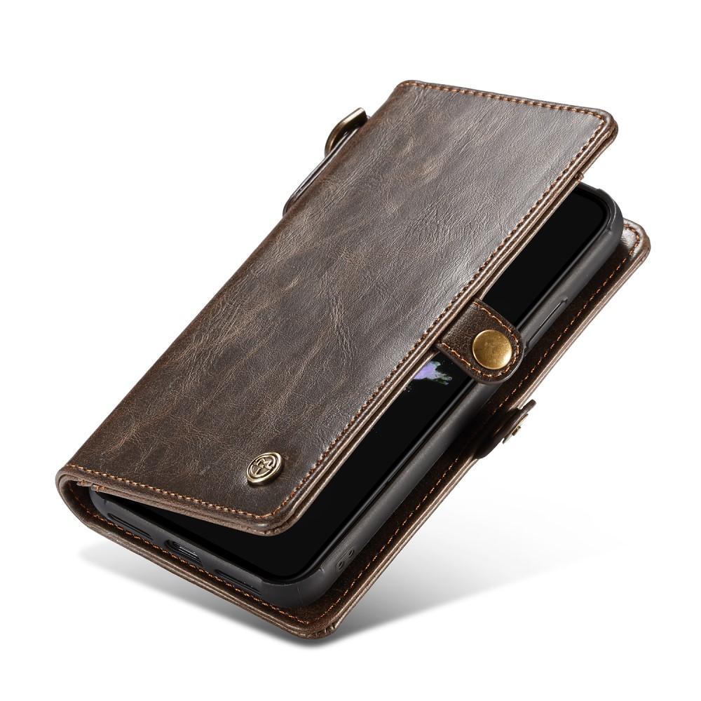 Läderplånbok Magnet iPhone X/XS brun