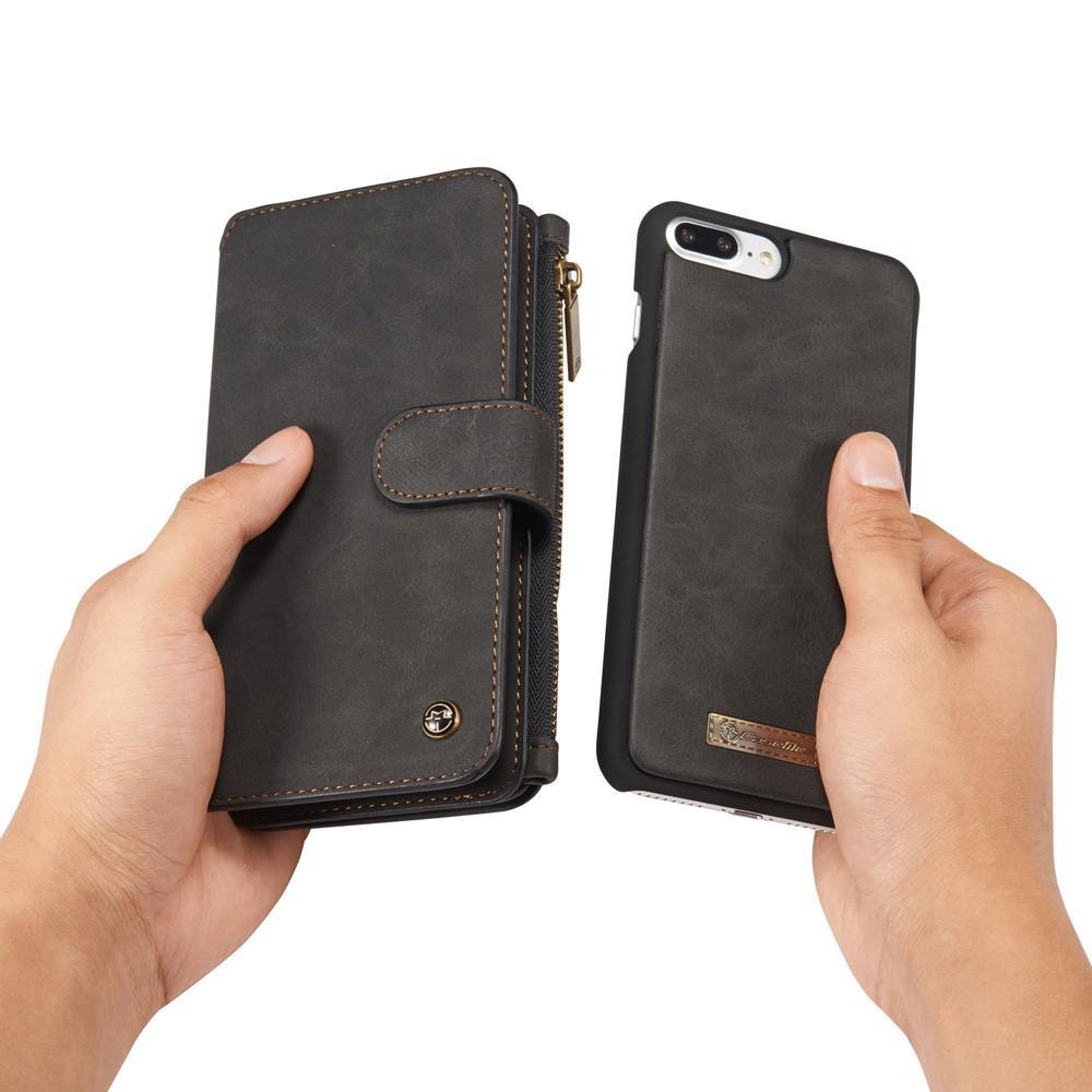 Multi-slot Flipfodral iPhone 7 Plus/8 Plus grå