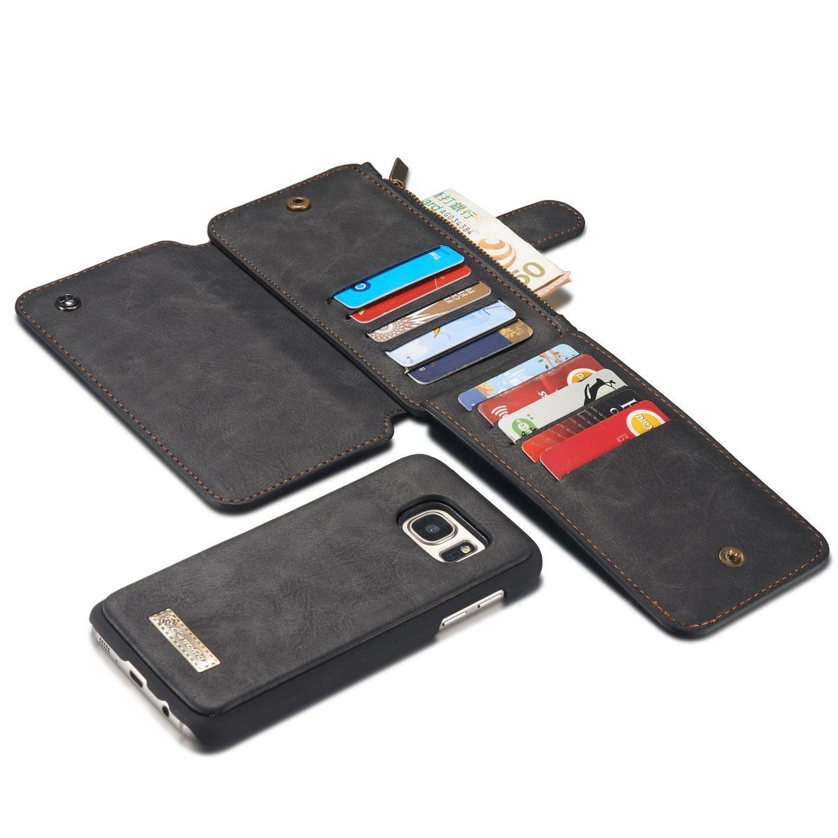 Multi-slot Flipfodral Samsung Galaxy S7 grå