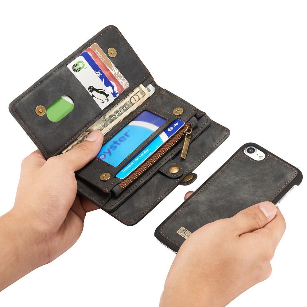 Multi-slot Plånboksfodral iPhone 7/8/SE 2020 grå