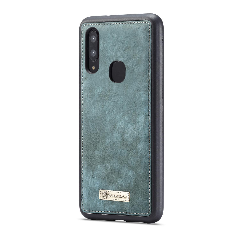 Multi-slot Plånboksfodral Galaxy A40 blå