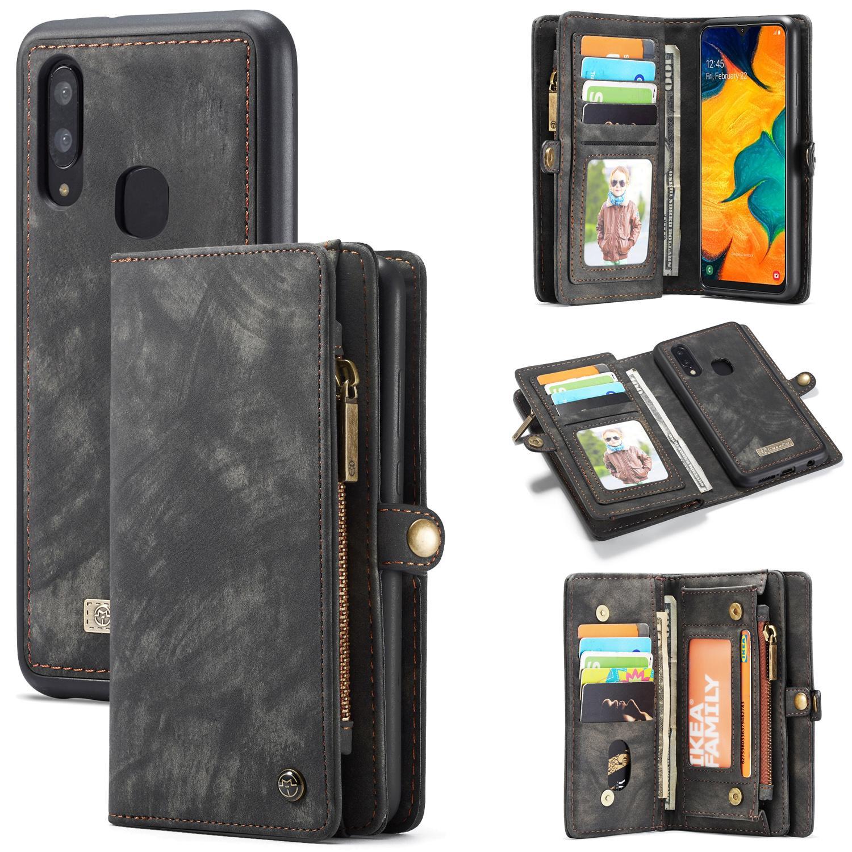 Multi-slot Plånboksfodral Galaxy A40 grå