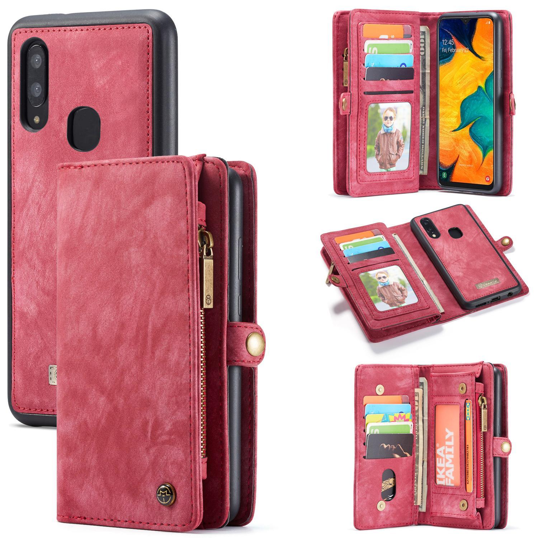 Multi-slot Plånboksfodral Galaxy A40 röd