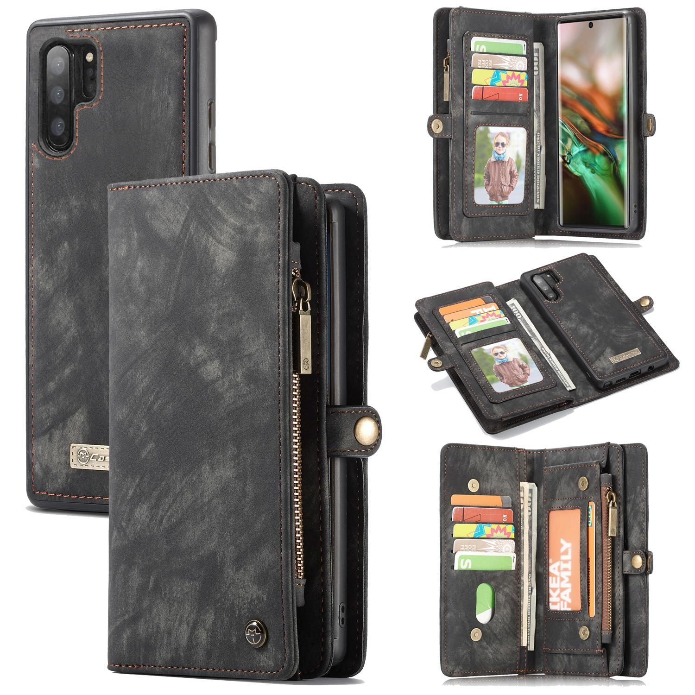 Multi-slot Plånboksfodral Galaxy Note 10 Plus grå