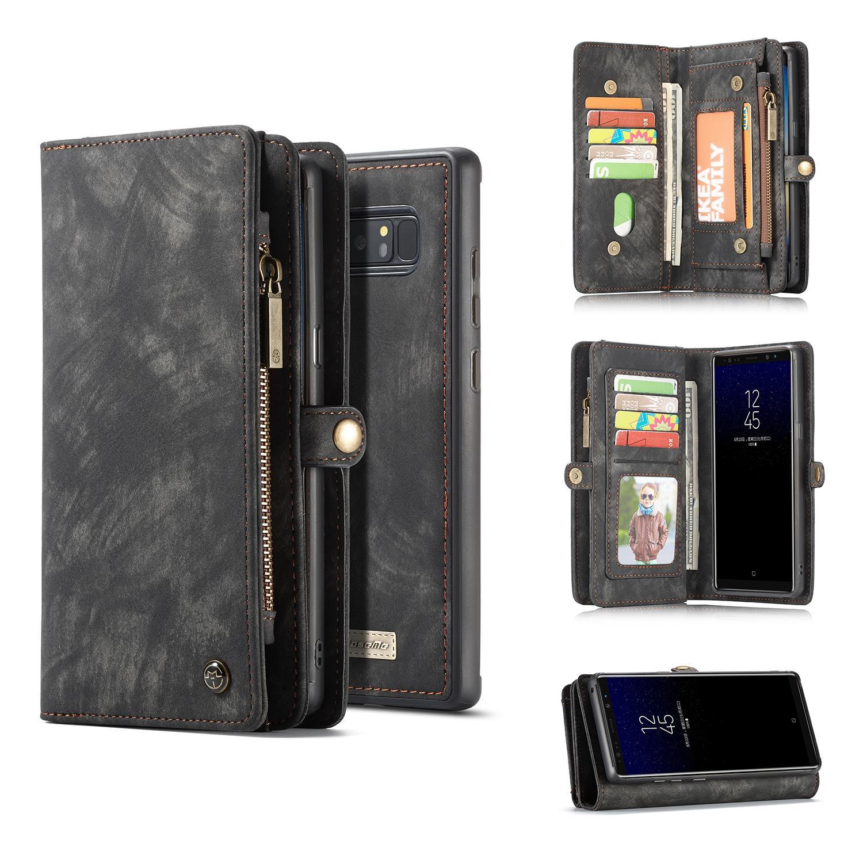Multi-slot Plånboksfodral Galaxy Note 8 grå