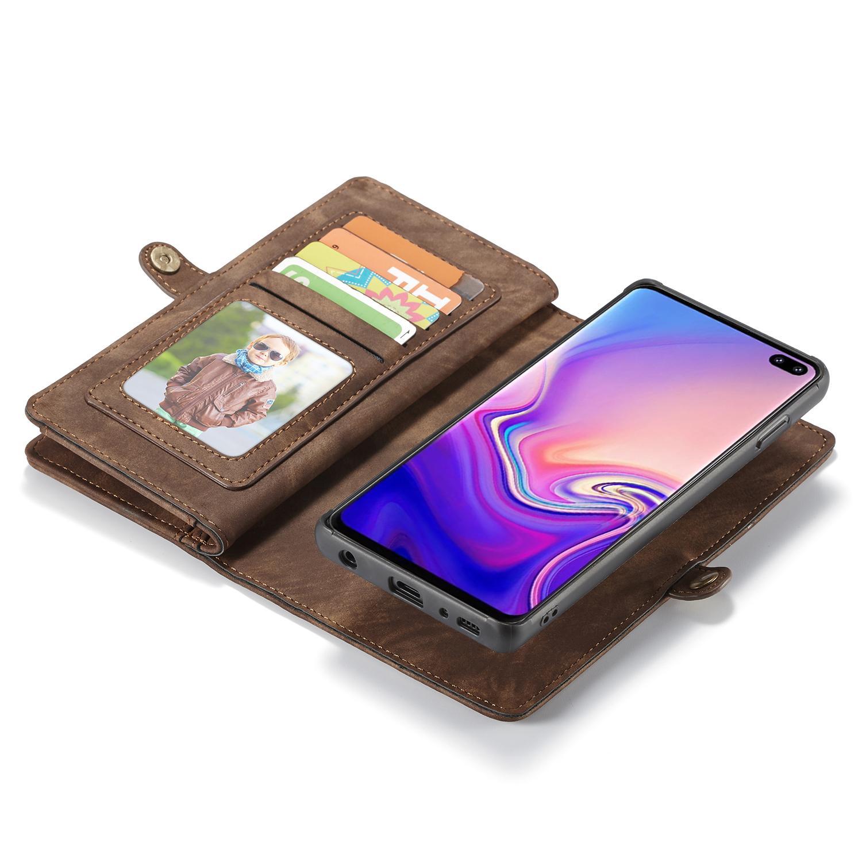 Multi-slot Plånboksfodral Galaxy S10 Plus brun