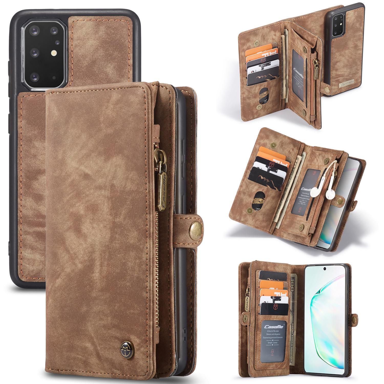 Multi-slot Plånboksfodral Galaxy S20 Plus brun