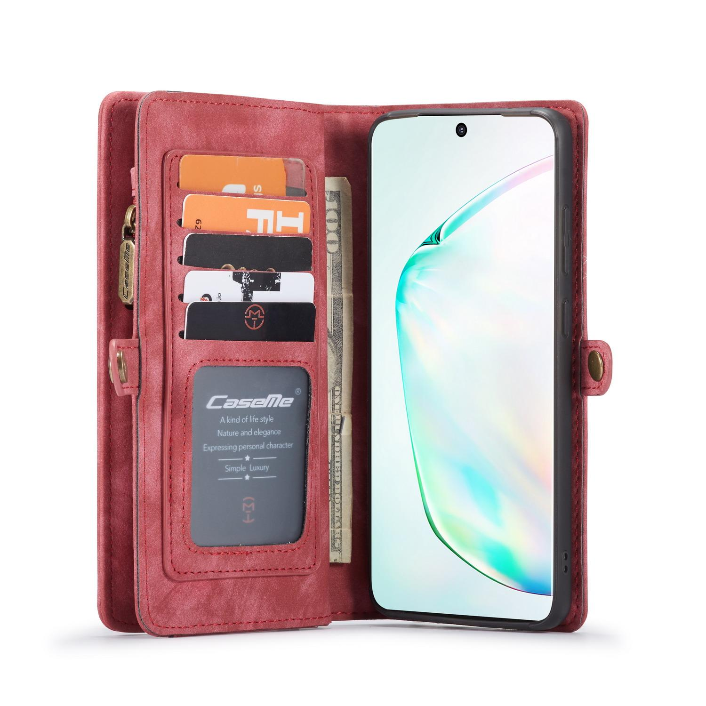 Multi-slot Plånboksfodral Galaxy S20 Ultra röd
