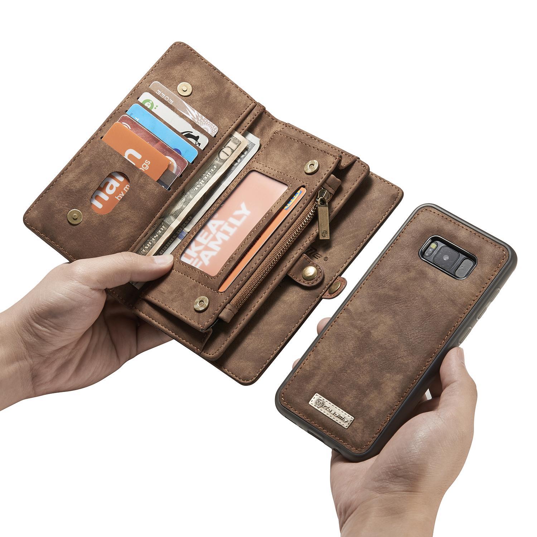 Multi-slot Plånboksfodral Galaxy S8 brun