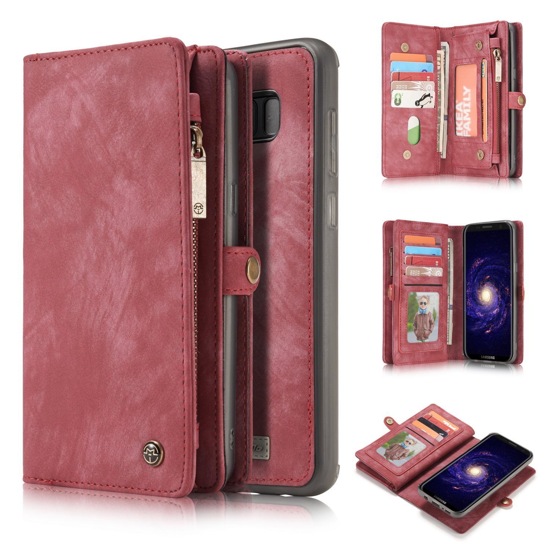 Multi-slot Plånboksfodral Galaxy S8 röd