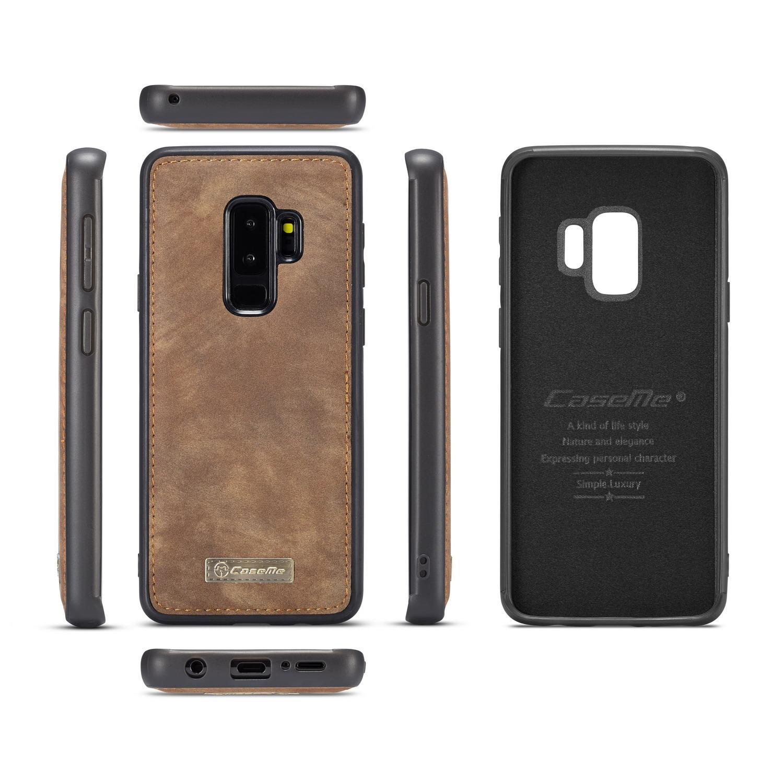Multi-slot Plånboksfodral Galaxy S9 Plus brun