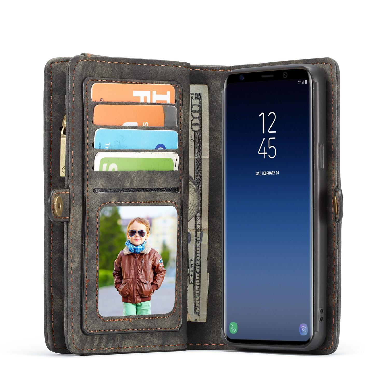 Multi-slot Plånboksfodral Galaxy S9 Plus grå