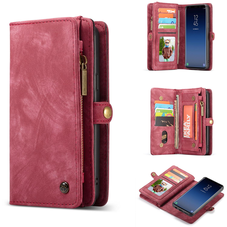 Multi-slot Plånboksfodral Galaxy S9 Plus röd