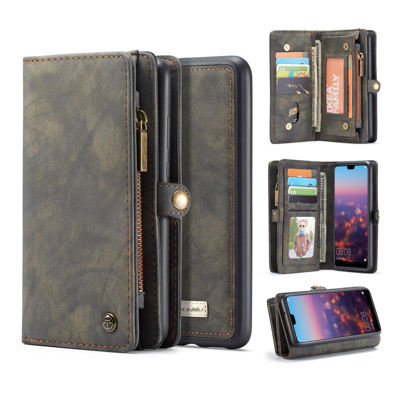 Multi-slot Plånboksfodral Huawei P20 grå