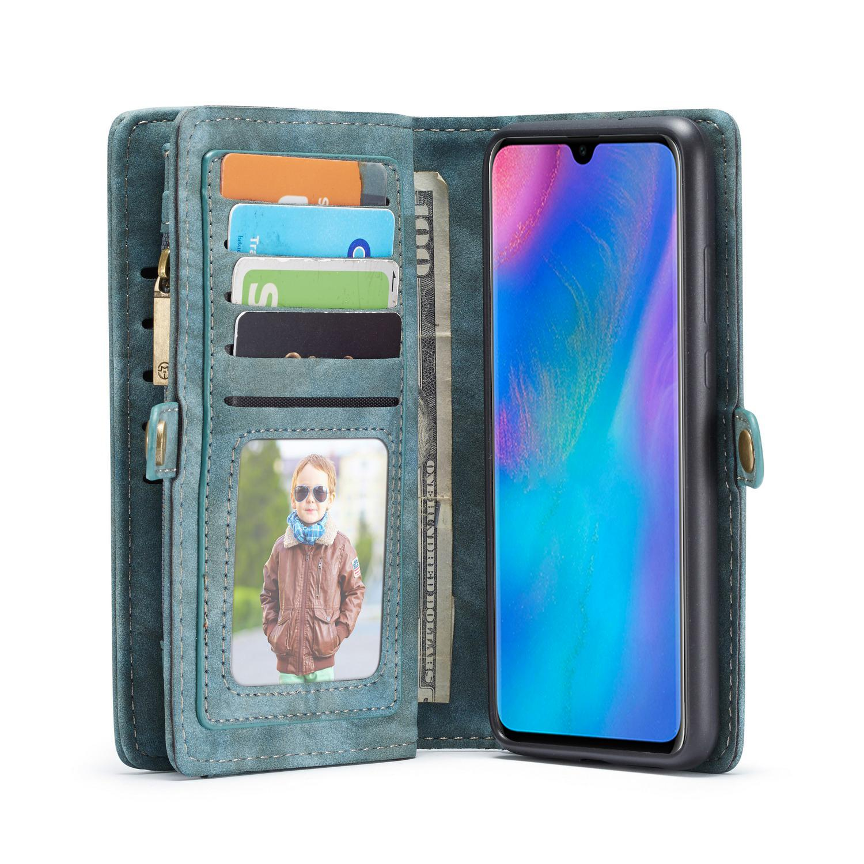Multi-slot Plånboksfodral Huawei P30 blå