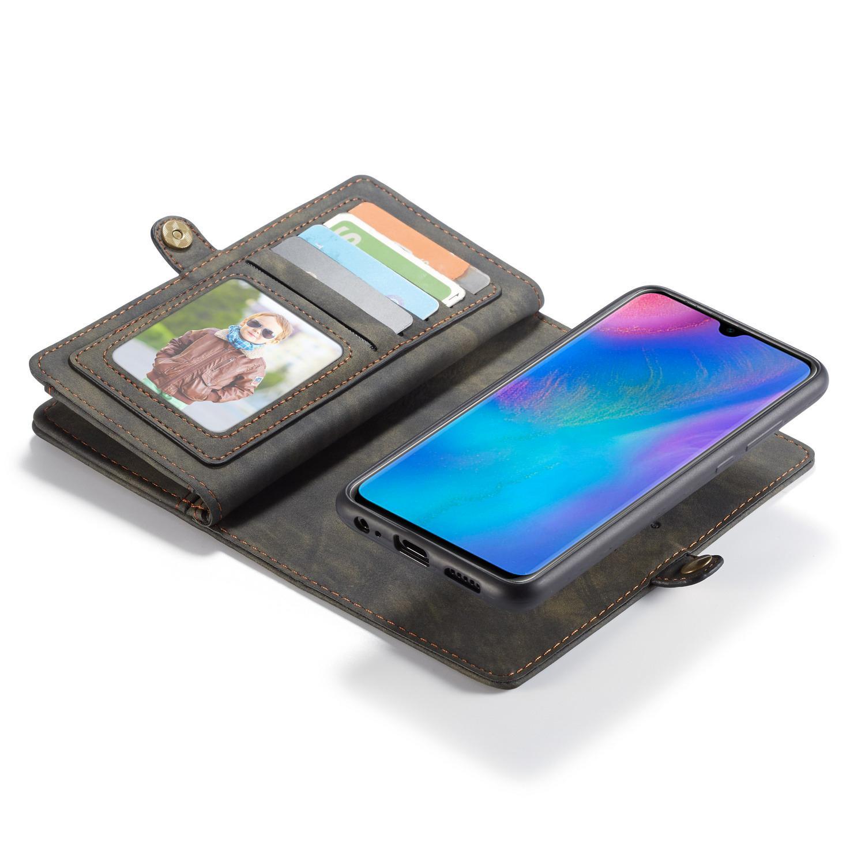 Multi-slot Plånboksfodral Huawei P30 grå