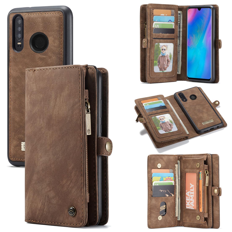 Multi-slot Plånboksfodral Huawei P30 Lite brun