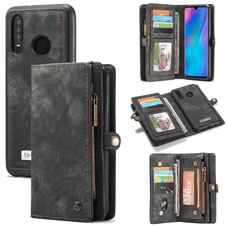 Multi-slot Plånboksfodral Huawei P30 Lite grå