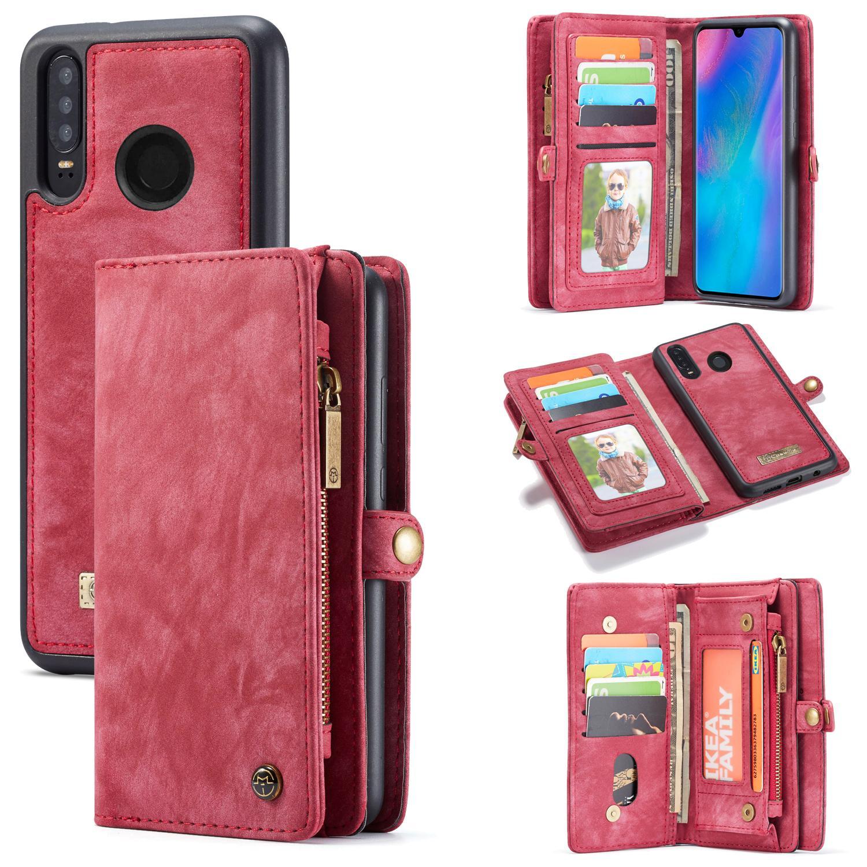 Multi-slot Plånboksfodral Huawei P30 Lite röd