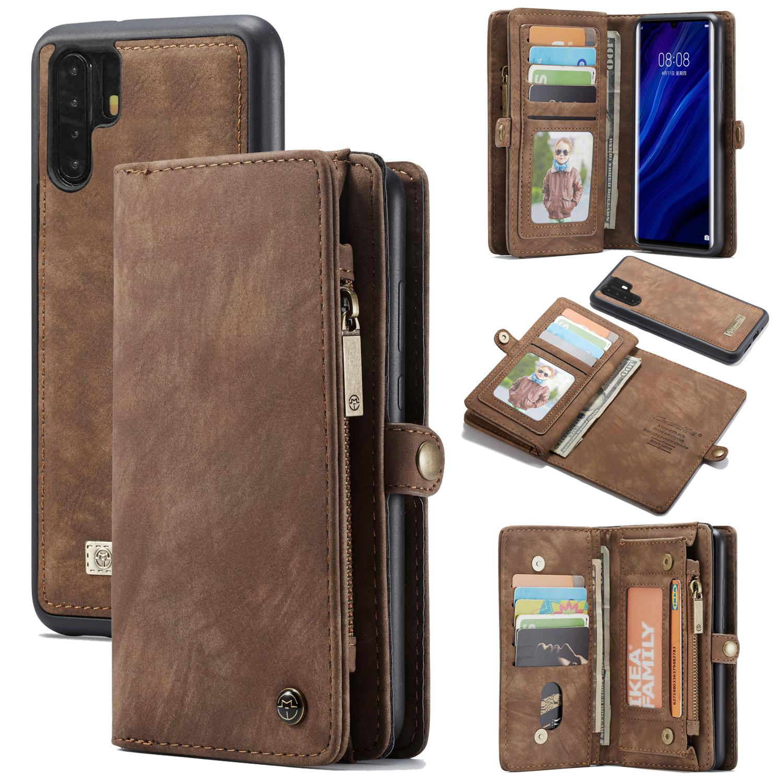 Multi-slot Plånboksfodral Huawei P30 Pro brun