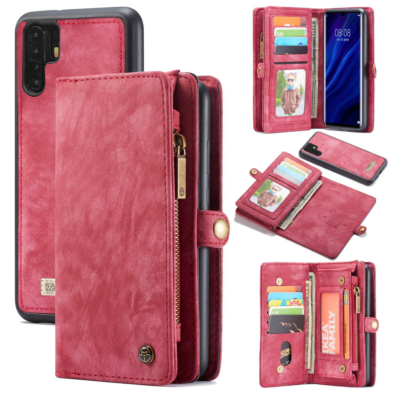 Multi-slot Plånboksfodral Huawei P30 Pro röd