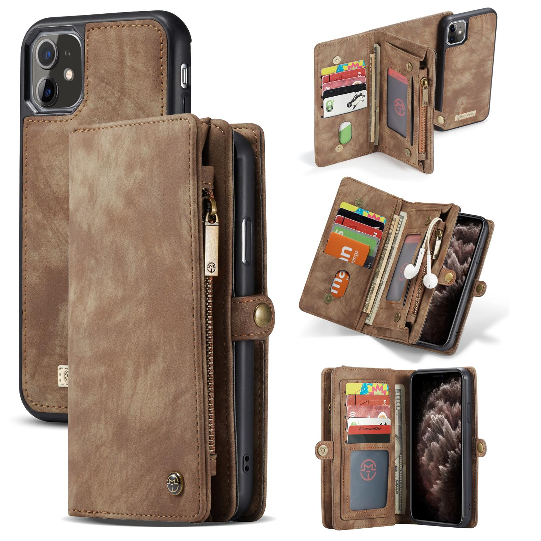 Multi-slot Plånboksfodral iPhone 11 brun