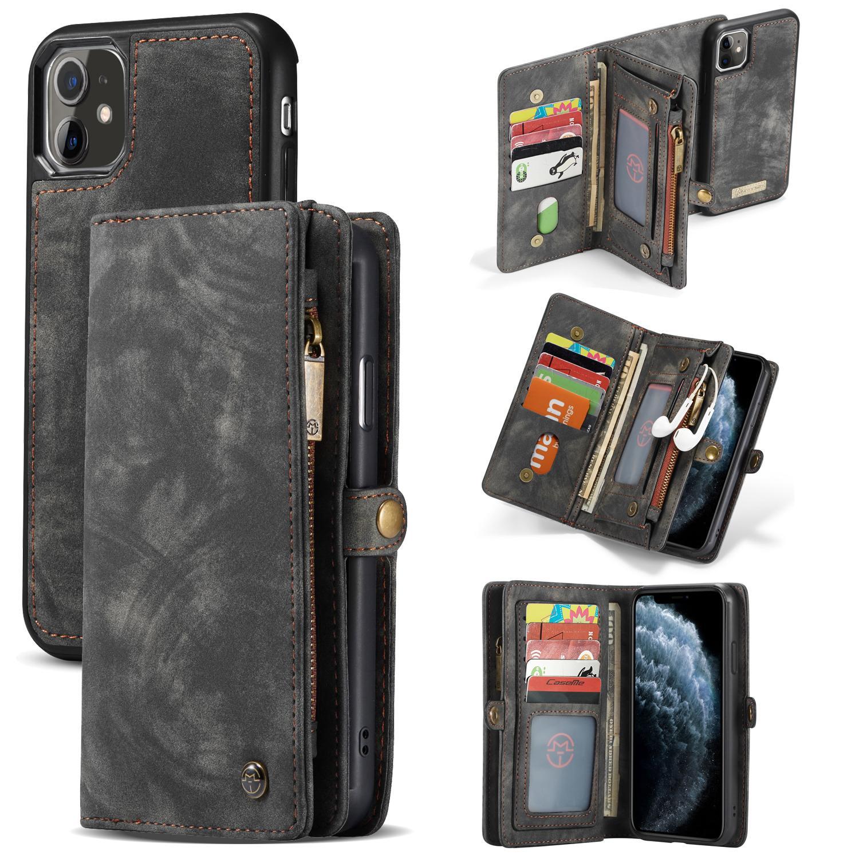 Multi-slot Plånboksfodral iPhone 11 grå