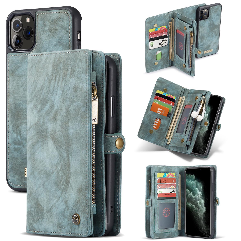 Multi-slot Plånboksfodral iPhone 11 Pro Max blå