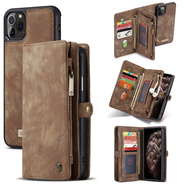 Multi-slot Plånboksfodral iPhone 11 Pro Max brun