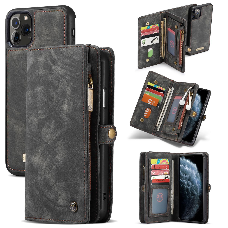 Multi-slot Plånboksfodral iPhone 11 Pro Max grå