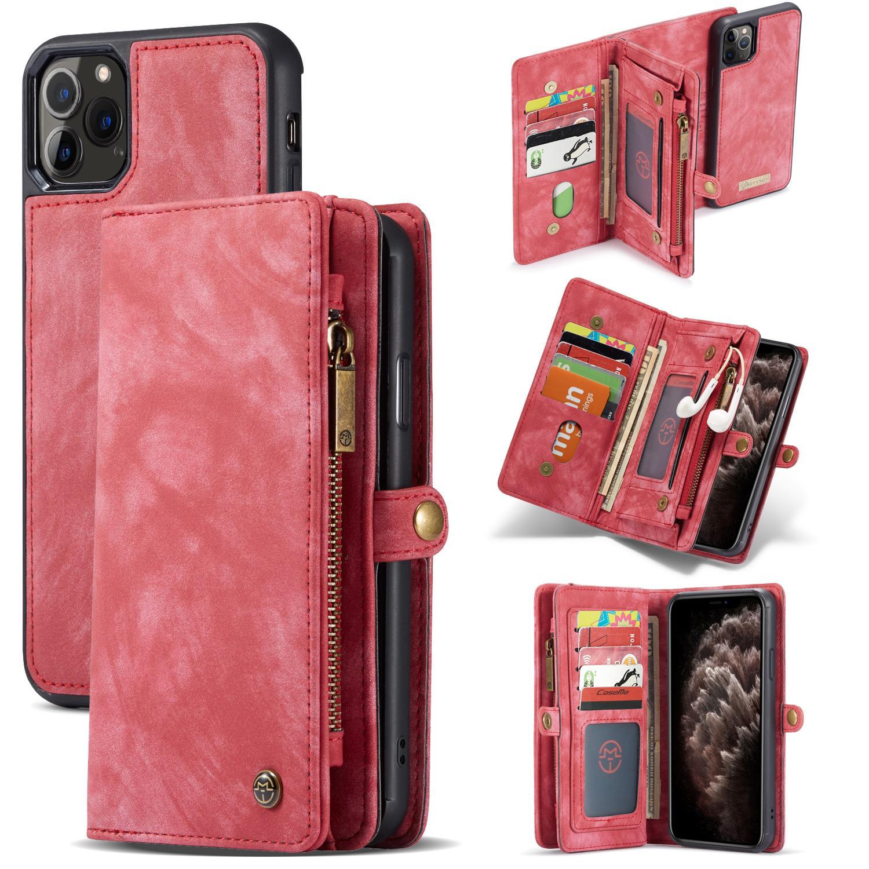 Multi-slot Plånboksfodral iPhone 11 Pro Max röd