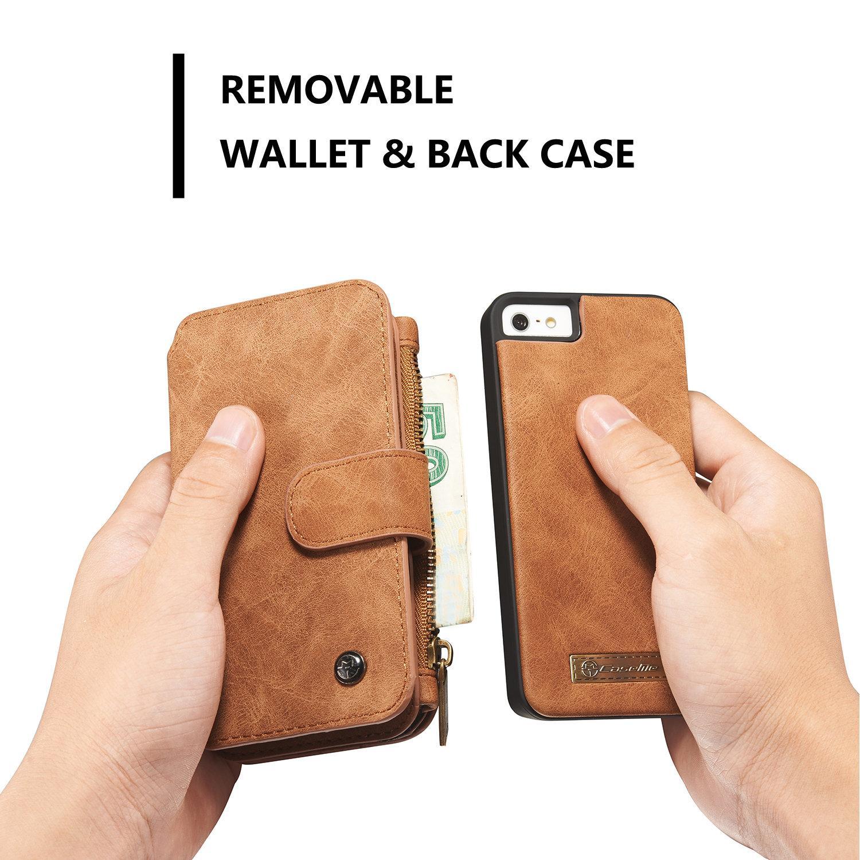 Multi-slot Plånboksfodral iPhone 5/5S/SE brun