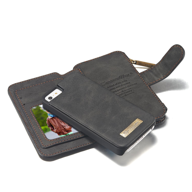 Multi-slot Plånboksfodral iPhone 5/5S/SE grå
