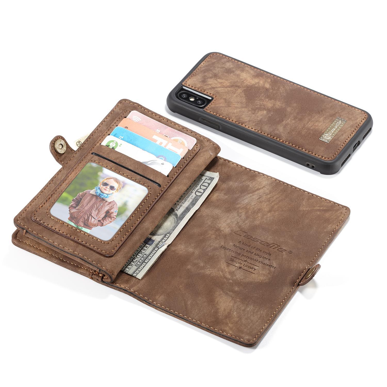 Multi-slot Plånboksfodral iPhone X/XS brun