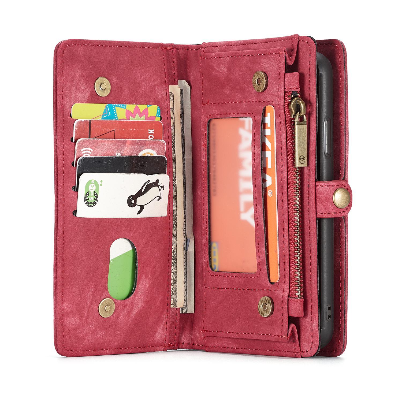 Multi-slot Plånboksfodral iPhone X/XS röd