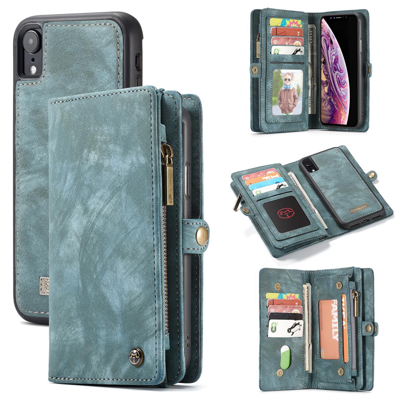 Multi-slot Plånboksfodral iPhone XR blå